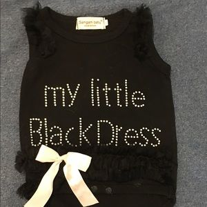 Baby Girl's Onesie Little Black Dress 0-3M
